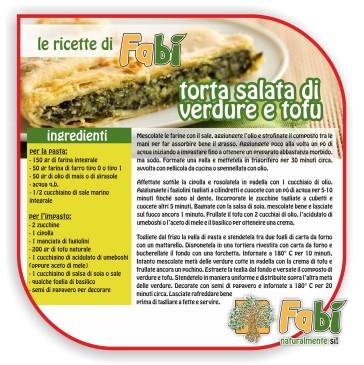 Torta salata di verdure e tofu